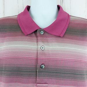 PGA Tour Size 3XLT Polo Shirt 3 Button Golf Purple